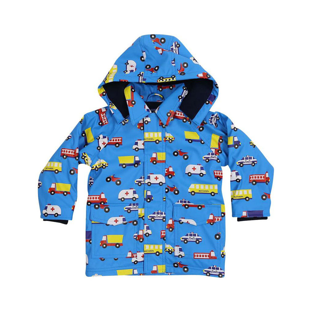 Korango Raincoat Vehicles Blue Last One! Size 5yr