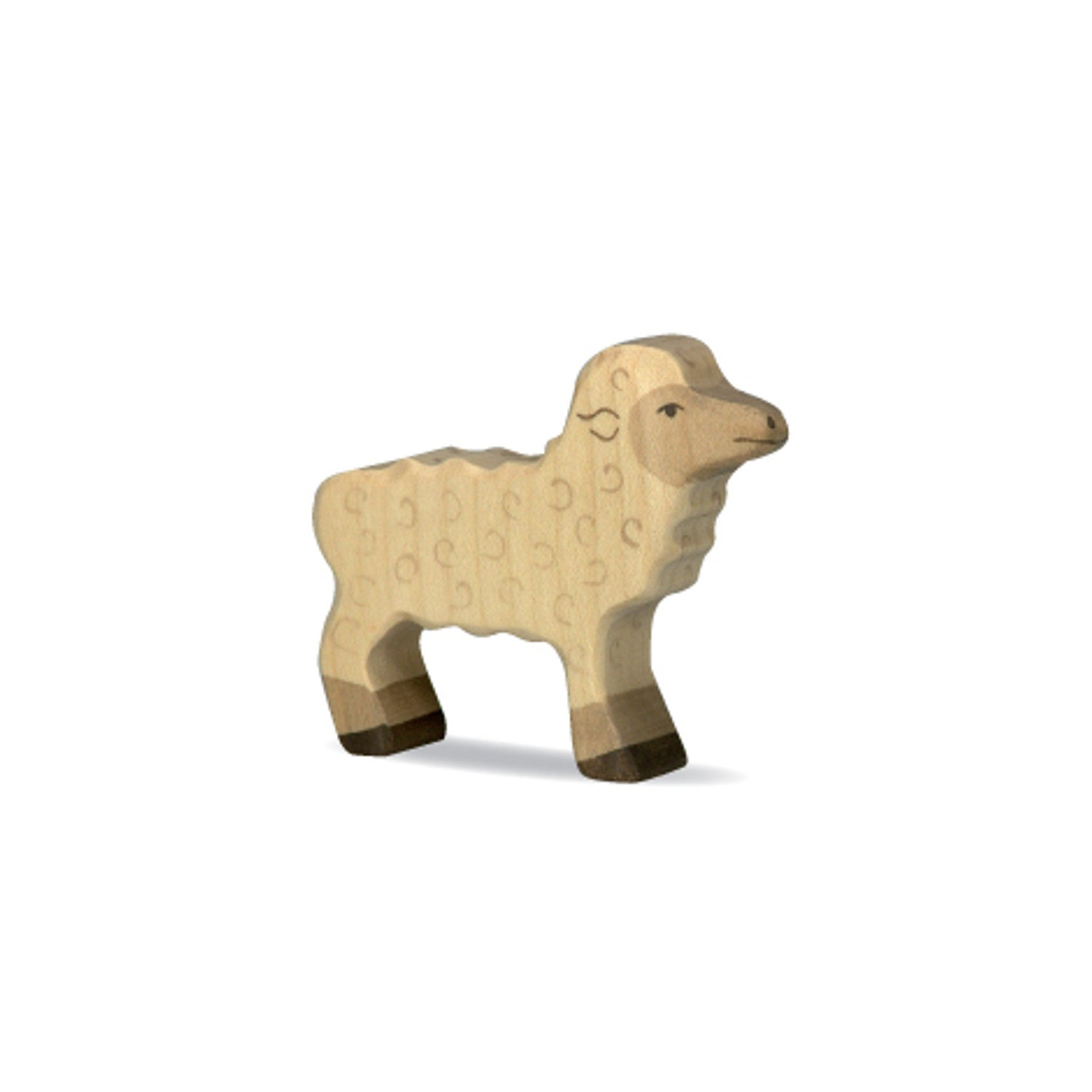 Holztiger wooden hand carved lamb figurine imaginative play