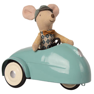 Maileg Mouse Car with Garage Blue
