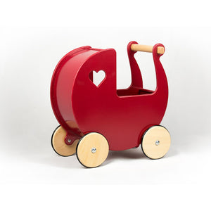 Moover Dolls Pram -Solid Red Painted