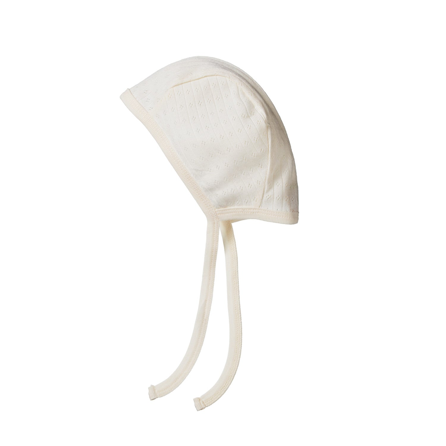 Nature Baby Pointelle Bonnet - Natural