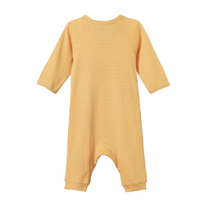 Nature Baby Pointelle Kimono Stretch and Grow - Lemon