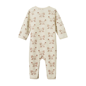 Nature Baby Cotton Bodysuit Long Sleeve - Mushroom Valley