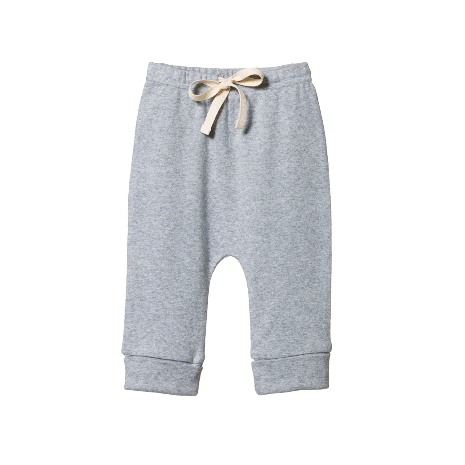 Nature Baby Cotton Drawstring Pants - Grey Marl