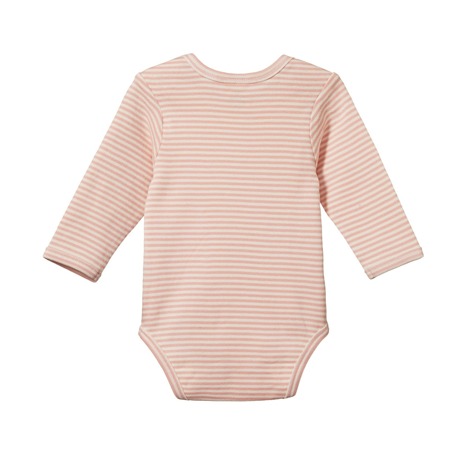Nature Baby Cotton Bodysuit Long Sleeve - Lily Stripe