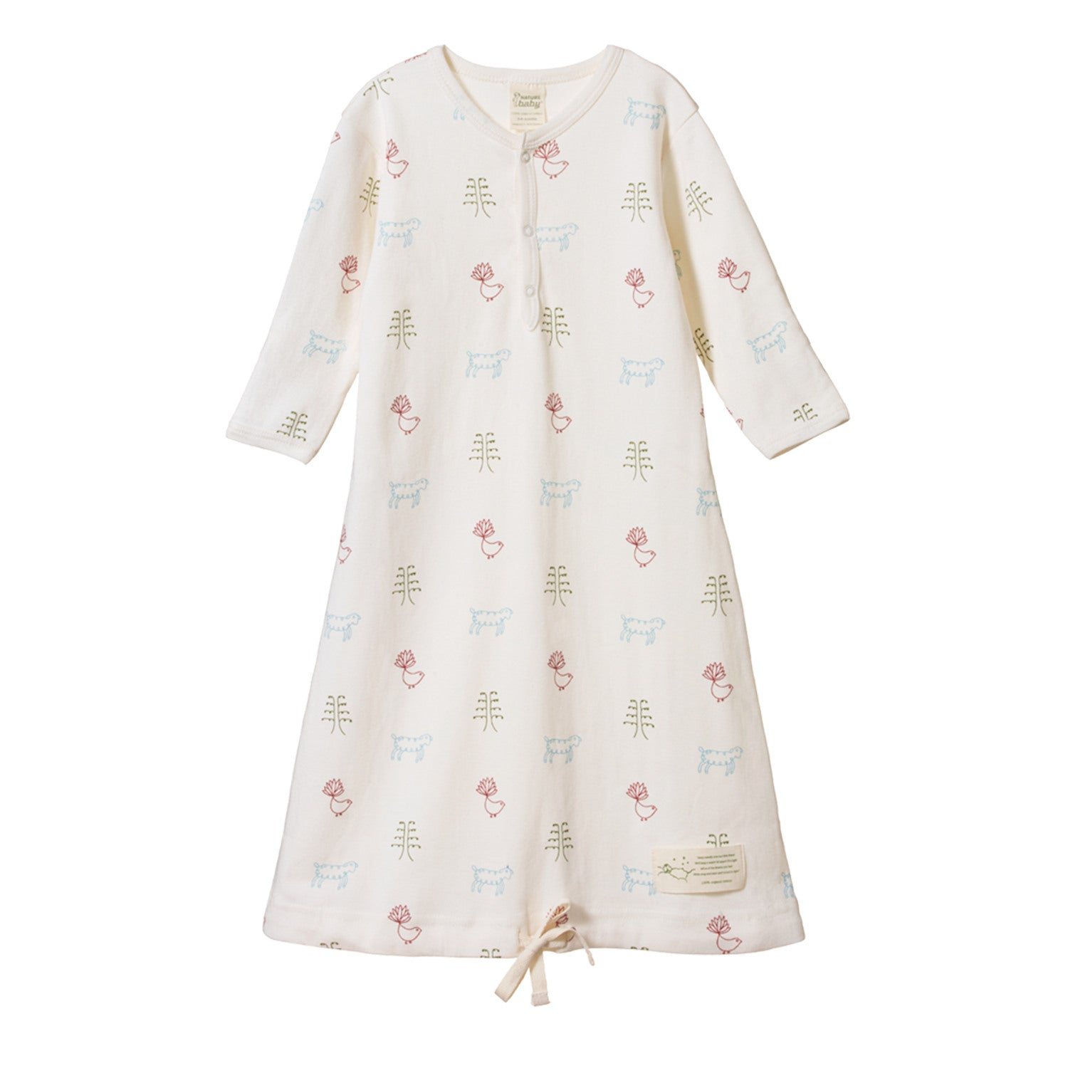 Nature Baby Sleeping Gown - Nature Baby Print