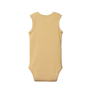 Nature Baby Cotton Singlet Bodysuit - Honey Stripe