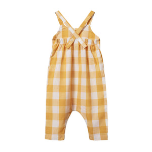 Nature Baby Gingham Picnic Suit Honey Check