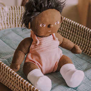 Olli Ella Dinkum Dolls Clothes -Romper Rose