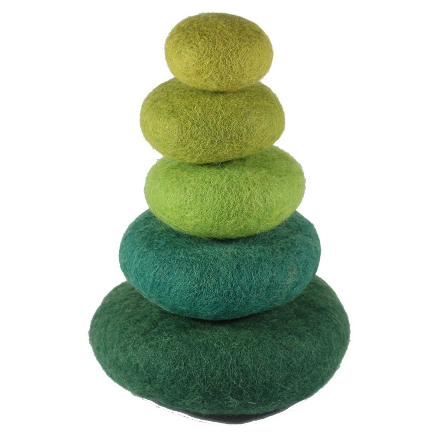 Papoose Felt Stacking Rocks Green