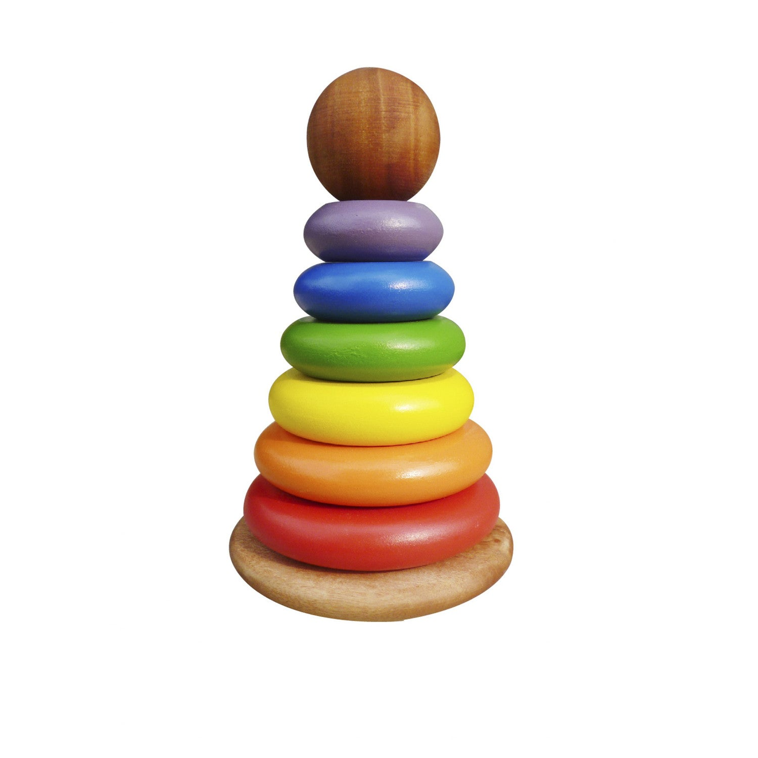 Q Toys Bouncing Stacking Rings Rainbow