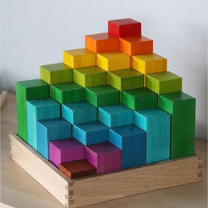 Q Toys Engineering Blocks Rainbow