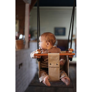 Solvej Baby and Toddler Swing -Soft Linen