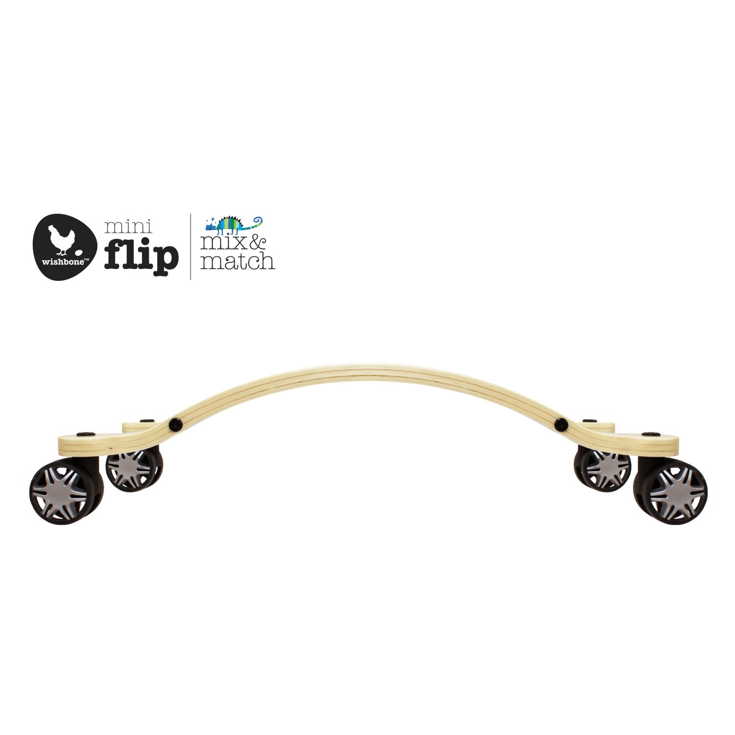Wishbone Mini-Flip Race Base with Wheels