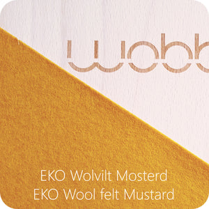 Wobbel Board Original with Felt Mustard
