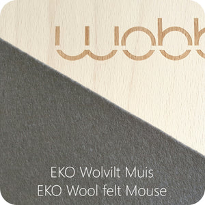 Wobbel Board Original with Felt Mouse