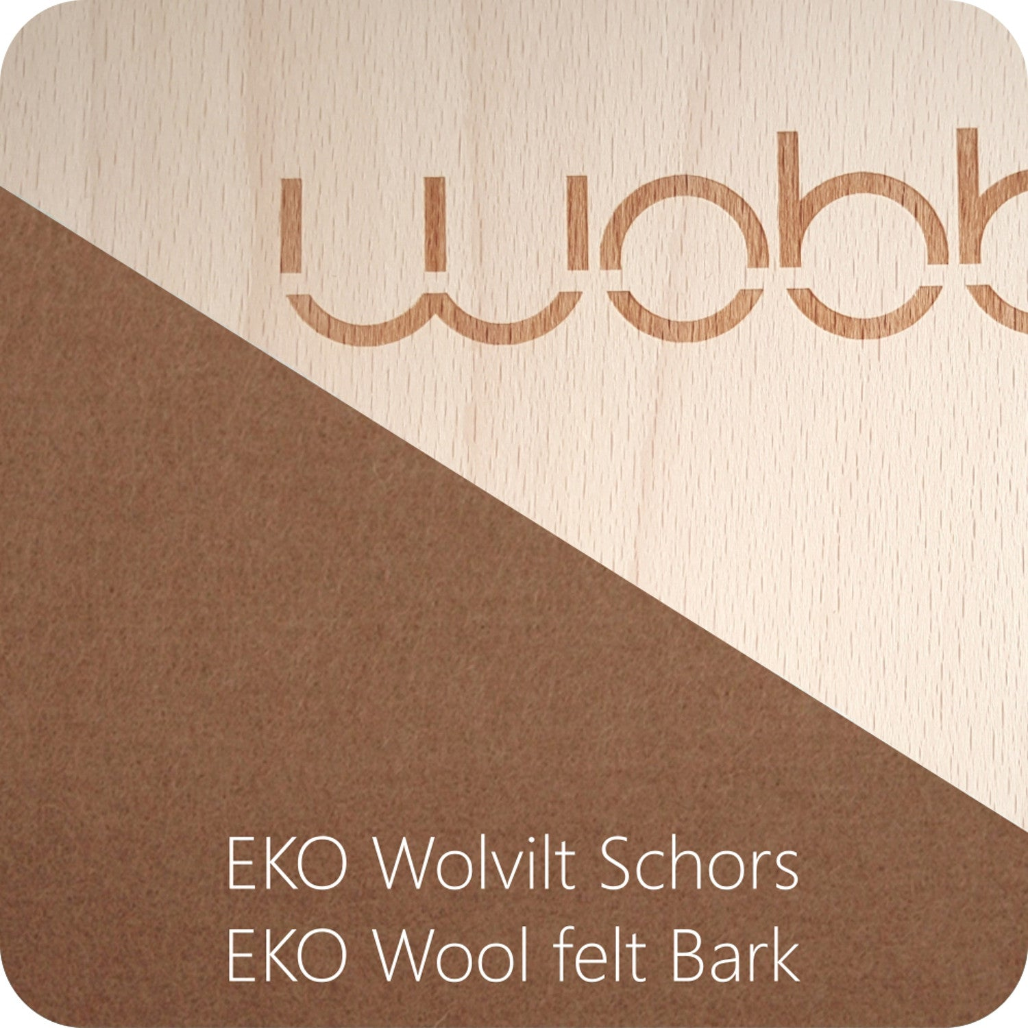 Wobbel Board Original with Felt WallabyBark