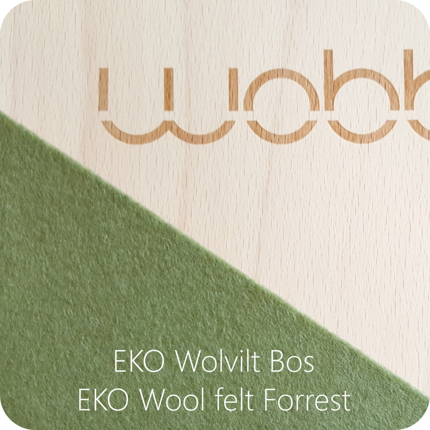 Wobbel Board Original with Felt Forrest