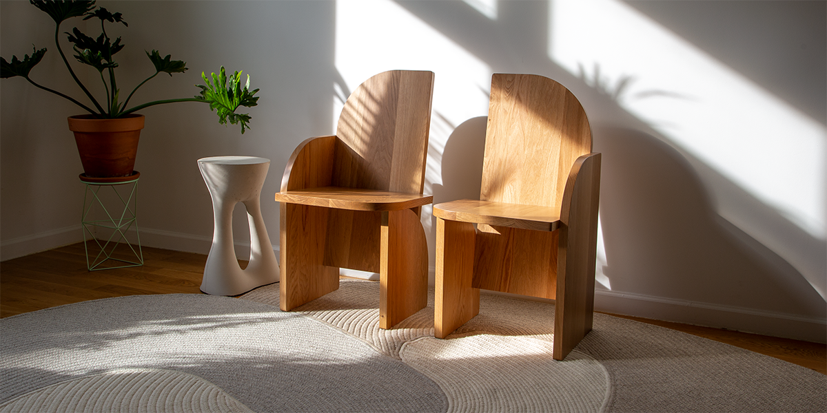 Bluff Oak Side Chair by Luft Tanaka for Souda
