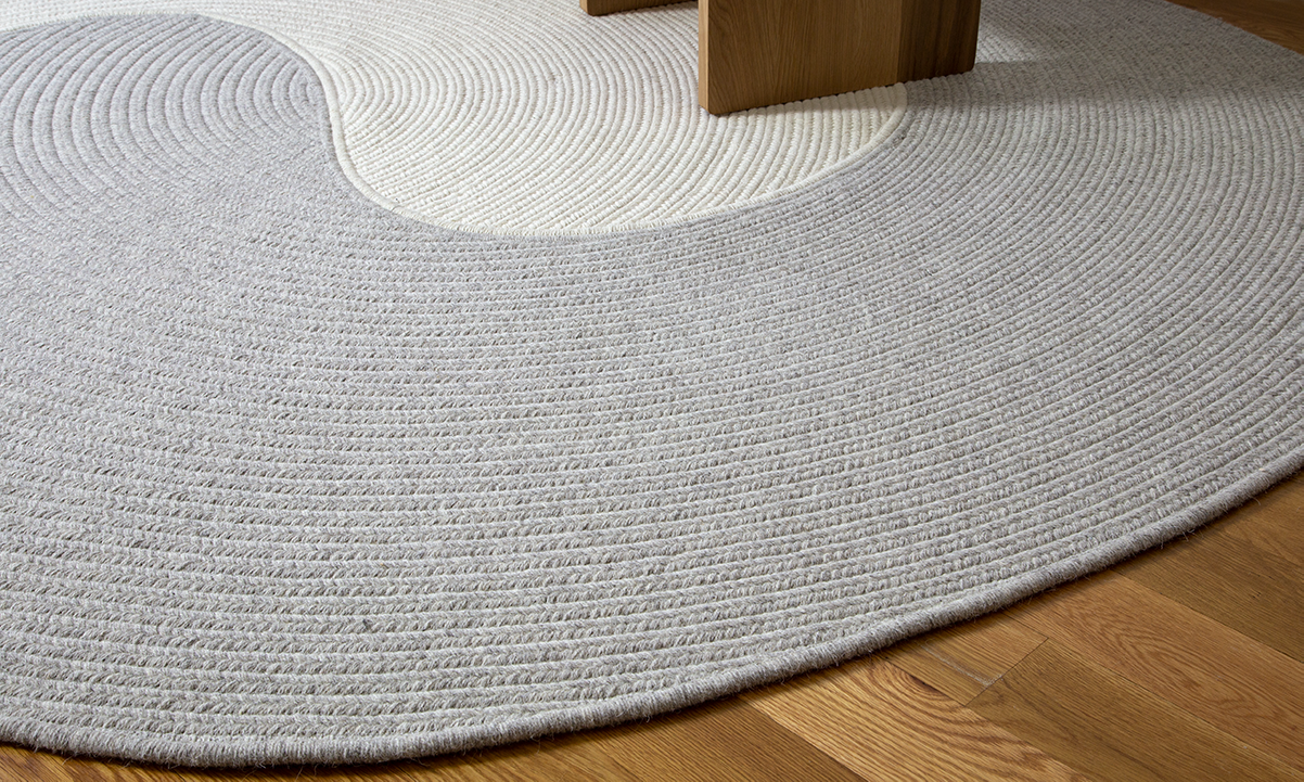 Riff Wool Rug by Luft Tanaka Studio for Souda