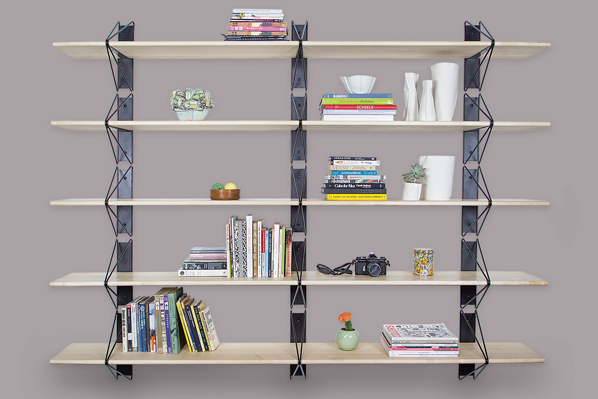 Strut Shelving System by Luft Tanaka and Shaun Kasperbauer for Souda