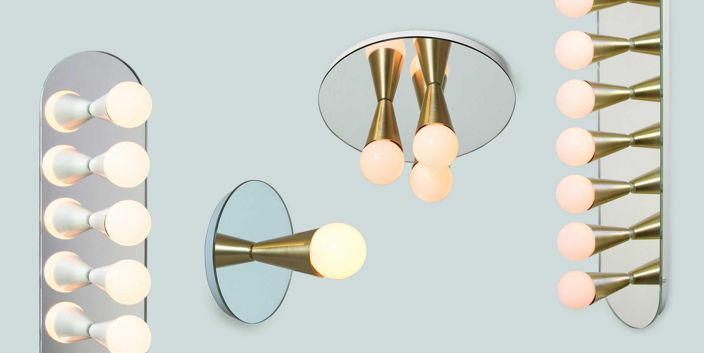 Echo Sconces and Flush Mounts by Shaun Kasperbauer for Souda
