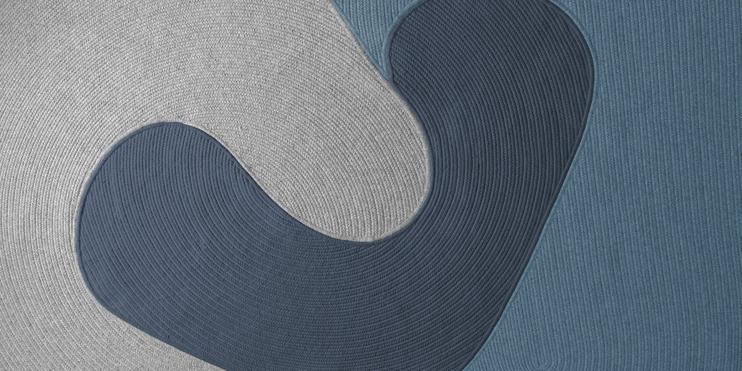 Riff Braided Wool Rug by Luft Tanaka for Souda