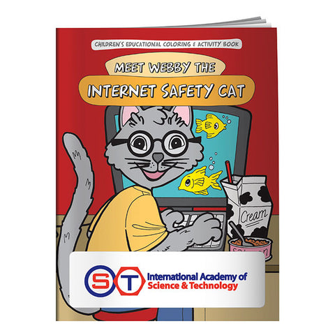 Coloring Book: Meet Webby The Internet Safety Cat 20634