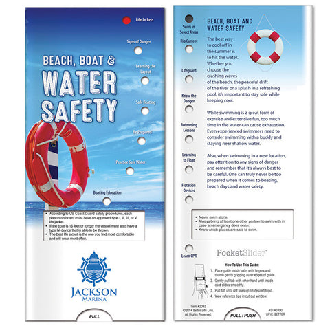 Pocket Slider: Beach, Boat and Water Safety 40929