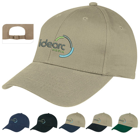 6-Panel Brushed Twill Cap 45058