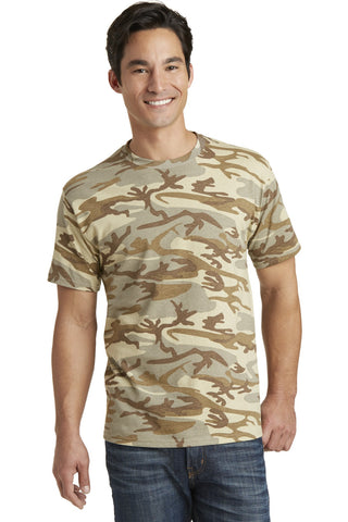 Port & Company® 5.4-Oz 100% Cotton Camo Tee. PC54C