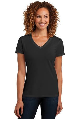 District Made™ Ladies Perfect Blend® V-Neck Tee. DM1190L