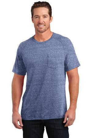 District Made™ Mens Tri-Blend Pocket Tee. DM340