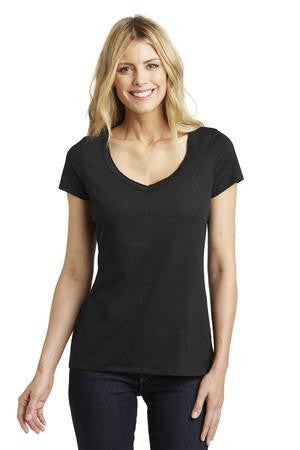 District Made™ Ladies Shimmer V-Neck Tee. DM456