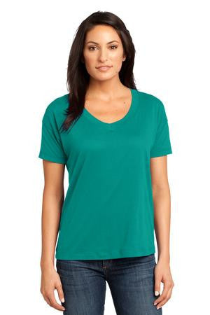 District Made™ - Ladies Modal Blend Relaxed V-Neck Tee. DM480