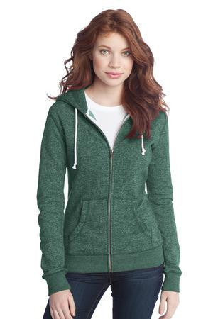 District® - Juniors Marled Fleece Full-Zip Hoodie DT292