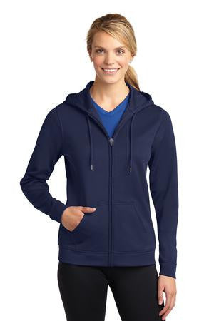 Sport-Tek® Ladies Sport-Wick® Fleece Full-Zip Hooded Jacket. LST238