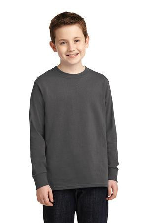 Port & Company® Youth Long Sleeve 5.4-oz 100% Cotton T-Shirt. PC54YLS