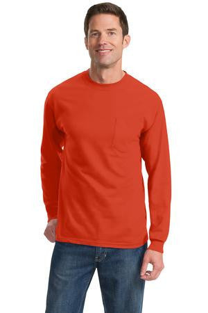 Port & Company® - Long Sleeve Essential T-Shirt with Pocket.  PC61LSP