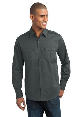 Port Authority® Stain-Resistant Roll Sleeve Twill Shirt. S649