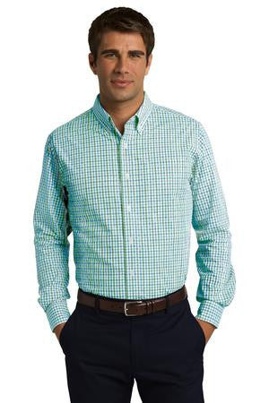 Port Authority® Long Sleeve Gingham Easy Care Shirt. S654