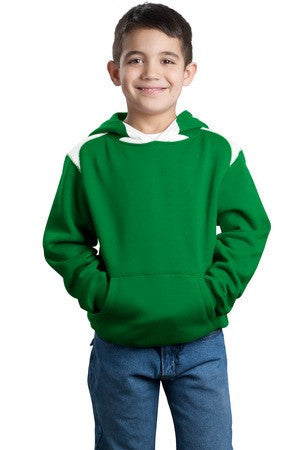 Sport-Tek® Youth Pullover Hooded Sweatshirt with Contrast Color. Y264