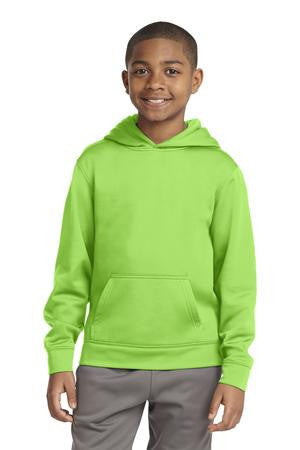 Sport-Tek® Youth Sport-Wick® Fleece Hooded Pullover. YST244