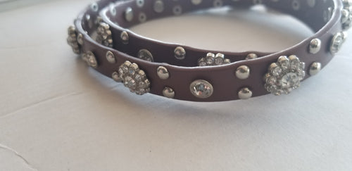 Boot Belt Brown flower