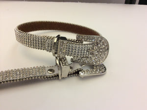 Boot Belt Crystal white