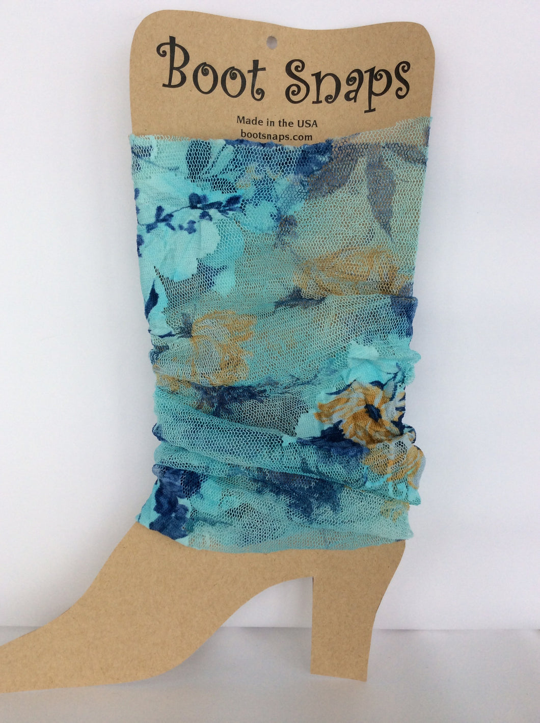 Boot Tube bright blue lace