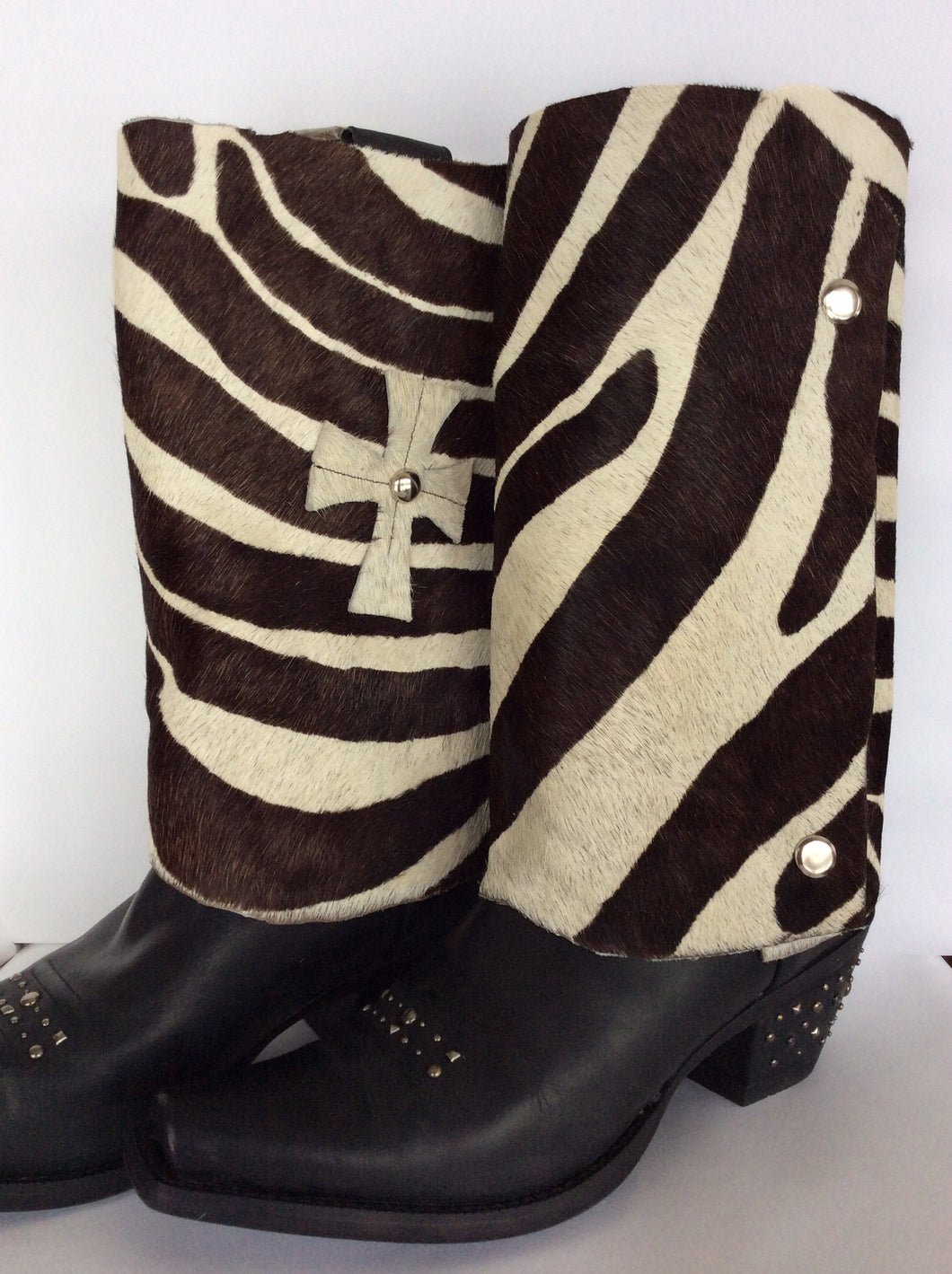 Leather Cowhide Zebra