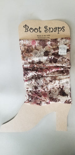 BootTube Brown and Pink floral with sparkle
