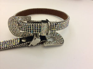 Iridescent Bling Belt