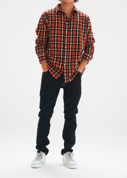 Red Beige Navy Check - Hover Image